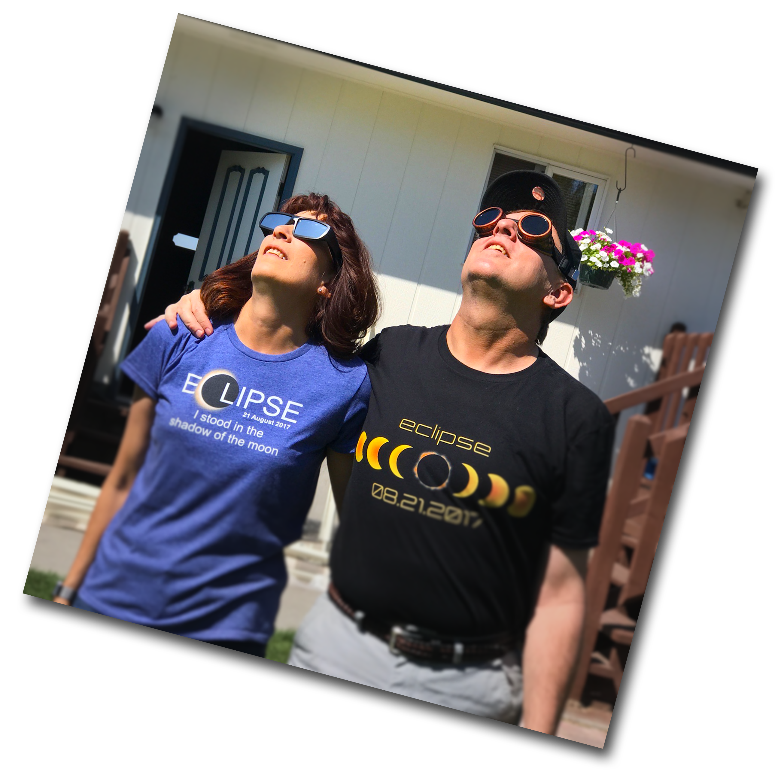 Jeff & Trina Watching the Solar Eclipse